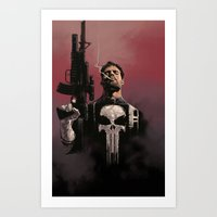 punisher Art Prints featuring Punisher by Dave Seguin