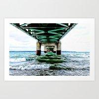 Mackinac Bridge Art Print