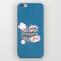 wreck it ralph iPhone & iPod Skins featuring You're one dynamite Gal.. funny disney pixar.. wreck it ralph quote by studiomarshallarts