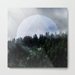 Foggy Woods 3X Metal Print