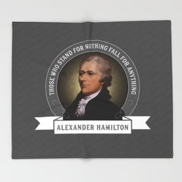 Alexander Hamilton U.S. Founding Father Quote Throw Blanket