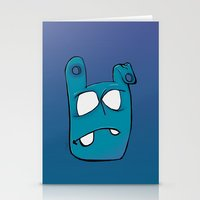 no face Stationery Cards featuring Face by Chris Napolitano
