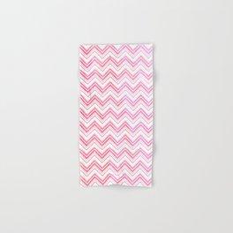 Chevron pattern pink watercolor on white #Society6 Hand & Bath Towel