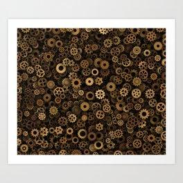 Steampunk cogwheels Art Print