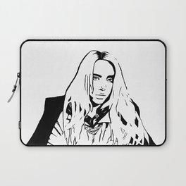 Billie Eilish Black and White Laptop Sleeve