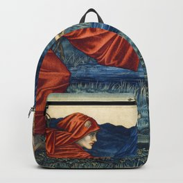 Love leading the Pilgrim Tapestry (1909) by William Morris Backpack