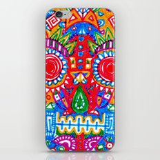 A really colourful skull iPhone & iPod Skin