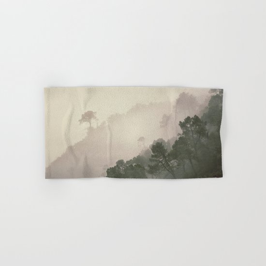 """Mountain light II"". Foggy forest. Hand & Bath Towel"