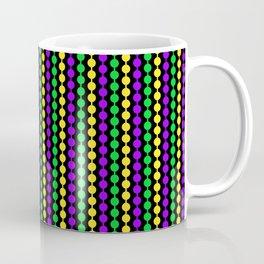 Mardi Gras Beads on Black Coffee Mug
