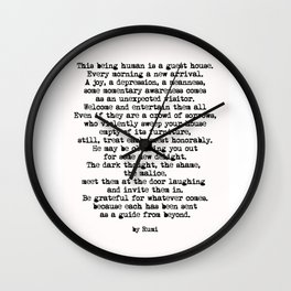 The Guest House 2 #poem #inspirational Wall Clock