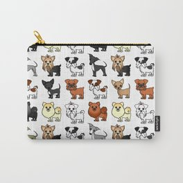Cute Toy Dog Breed Pattern Carry-All Pouch