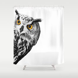 Sneaky Owl Shower Curtain