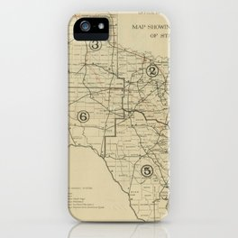 Vintage Texas Highway Map (1917) iPhone Case