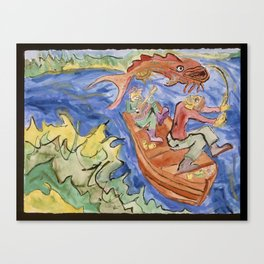 FISHING Canvas Print
