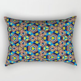 Bright Beadwork Inspired Print Rectangular Pillow