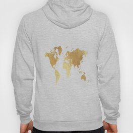 Textured Gold Map Hoody