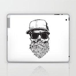 skull with beard Laptop & iPad Skin