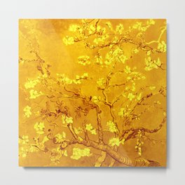 """Van Gogh's """"Almond blossoms"""" in gold Metal Print"""