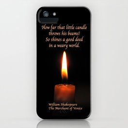 Shakespeare Candle Flame iPhone Case