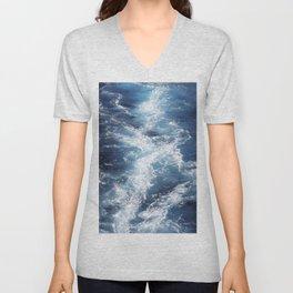 Marble Sea Waves Unisex V-Neck