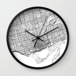 Toronto Map White Wall Clock