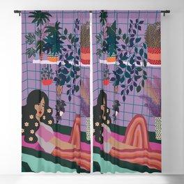 Girl in Bathroom Blackout Curtain