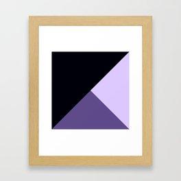 Trinity Color Block Ultra Violet Framed Art Print