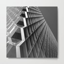 Abstract City Urban Architecture Geometric Pittsburgh Black And White Print Metal Print