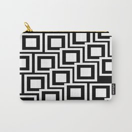 Black and White Squares Pattern 02 Carry-All Pouch
