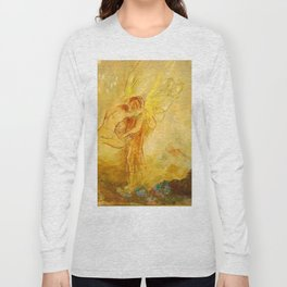 "Odilon Redon ""Jacob Wrestling with the Angel"" Long Sleeve T-shirt"