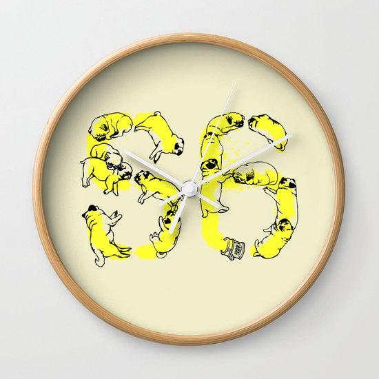 Pugs Prank Wall Clock