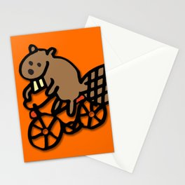 Beaver Rides a Bike! Stationery Cards