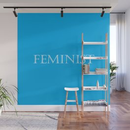 Feminist - Blue and White Wall Mural