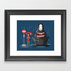 My Hungry Neighbor Framed Art Print