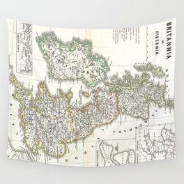 Vintage Map of The British Isles (1865) Wall Tapestry