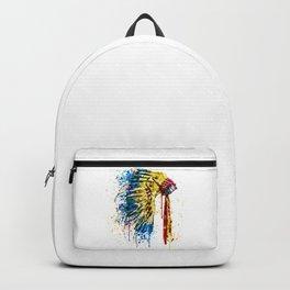 Native American Feather Headdress Backpack