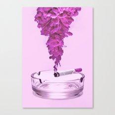 Pink Smoke Canvas Print
