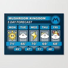 Mushroom Kingdom 5 Day Weather Forecast Canvas Print