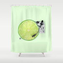lime dj shower curtain