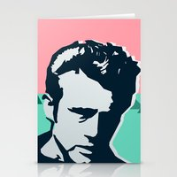 james franco Stationery Cards featuring  james  by mark ashkenazi