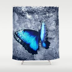 Blue Picture Perfect Shower Curtain