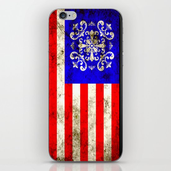 An American flag iPhone & iPod Skin