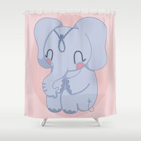 india Shower Curtains featuring India by Daisy Watson