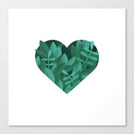 Plant Leave Love Canvas Print