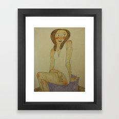 FRENCH MODEL Framed Art Print