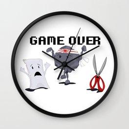 Karate-Paper-Scissors Wall Clock