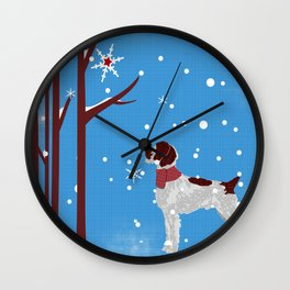 German WiredHair Pointer Dog Wall Clock