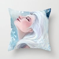 elsa Throw Pillows featuring Elsa by Ines92