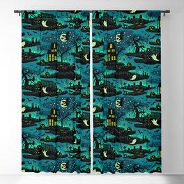 Halloween Night - Fox Fire Green Blackout Curtain