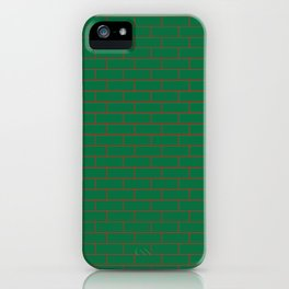 Green Wall Red Line iPhone Case